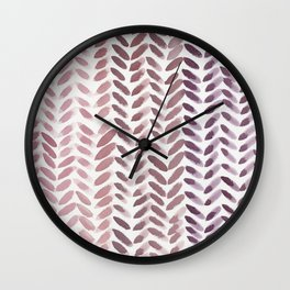 Berry Wheat Wall Clock