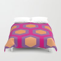 honeycomb Duvet Covers featuring Honeycomb by Andrew Jonathan Baker