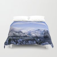 yosemite Duvet Covers featuring Yosemite by Ian Bevington