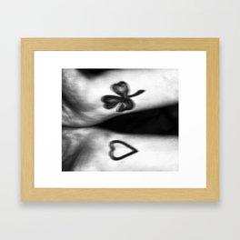 Between Love and Luck Framed Art Print