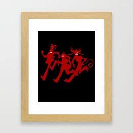 Run Run Run! In Red! Framed Art Print