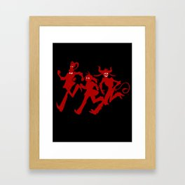 Run Run Run! In Red! Framed Art Print