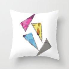David Bowie inQuadri Throw Pillow