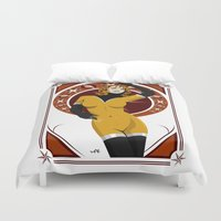 nouveau Duvet Covers featuring Leonis (Nouveau) by Andrew Formosa