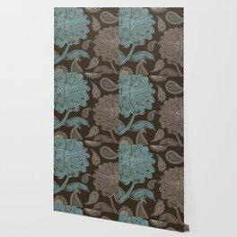Cocoa Paisley I Wallpaper