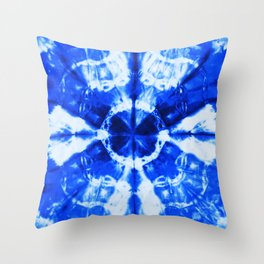 It's Bloomin' Blue Throw Pillow