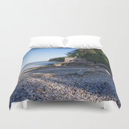 Elberry Cove - Agatha Christie's Favourite Bathing Spot Duvet Cover