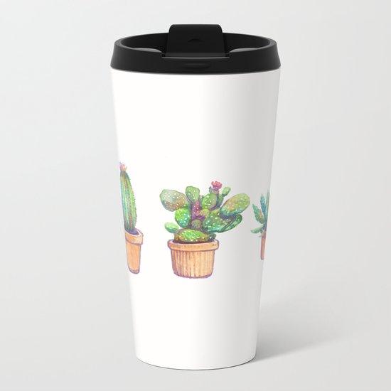 evolution cactus to pineapple Metal Travel Mug