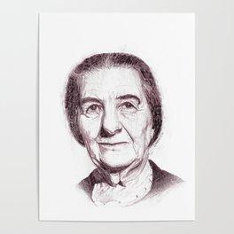 Golda Meir Poster