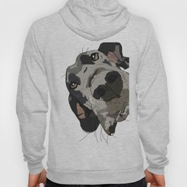 Great Dane dog in your face Hoody