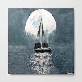 Sail Me To The Moon Metal Print
