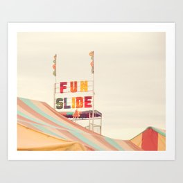 Fun Slide Art Print