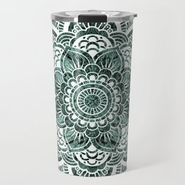 Mandala Subtle Green Colorburst Travel Mug