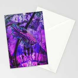 Go With The Flow  Violet Colors.  Cheers And Enjoy Stationery Cards