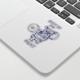 English Bulldog Squat Sticker
