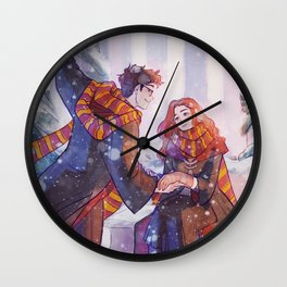 Snowy Jily Wall Clock