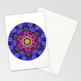 Floral finery - vivid kaleidoscope 20170321_135334 e k1 Stationery Cards
