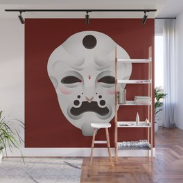 Ghost Mask Wall Mural
