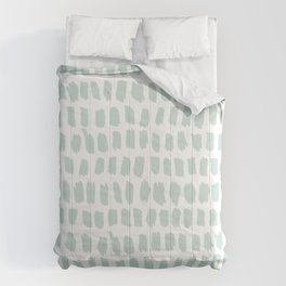 Minty strokes and abstract pastel stripes pattern design Comforters