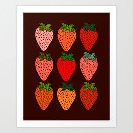All The Strawberries Art Print