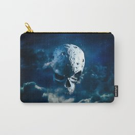 Reaper Moon Rising / 3D render of cratered skull moon in night sky Carry-All Pouch