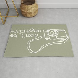 Don't Be Negative Photography Camera  Rug