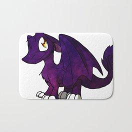Galaxy SD Furry Dragon - Fantasy Cartoon Kawaii Space Illustration Cute Bath Mat