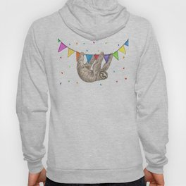 Sloth with Bunting #1 Hoody