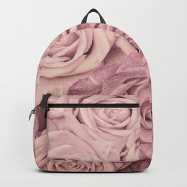 Some People Grumble - Pink Rose Pattern - Roses Garden Backpack