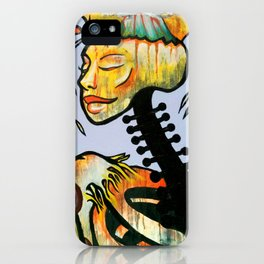 Skeleton Woman Tattoo Macabre Oil and Acrylic Painting iPhone Case