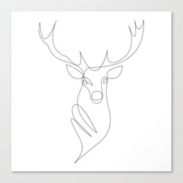oh deer - one line Canvas Print
