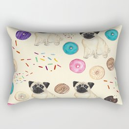 Pugs and donuts sweet sprinkles Rectangular Pillow