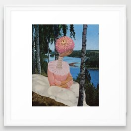 lake sludge Framed Art Print