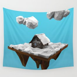 lowpoly winter Wall Tapestry