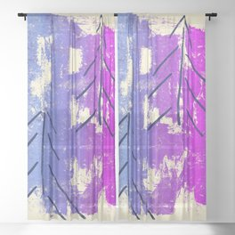 Magical Forest, Abstract No2 Sheer Curtain