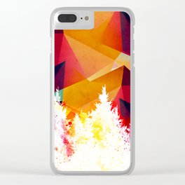 Forest explosion of color Clear iPhone Case