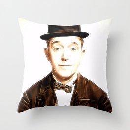 Stan Laurel, Vintage Comedian Throw Pillow