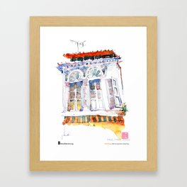 "Paul Wang, ""Shophouse At Purvis Street, Singapore"" Framed Art Print"