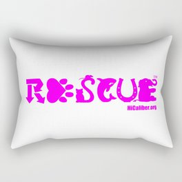 Rescue Hot Pink Rectangular Pillow