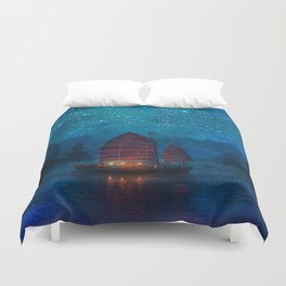Our Secret Harbor Duvet Cover
