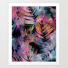 Waikiki Tropic {Black} Art Print