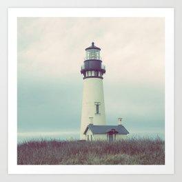 Oregon Lighthouse Art Print