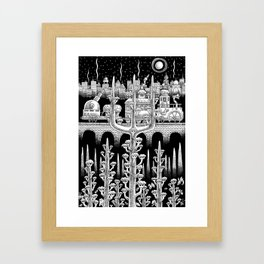 At the Edge of The Woods Framed Art Print