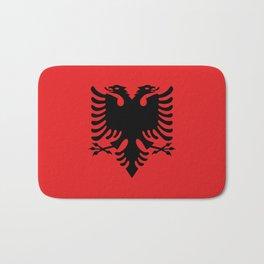 Flag of Albania - Authentic version Bath Mat