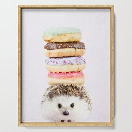Hedgehog Donuts on Lilac Serving Tray