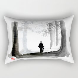 samurai back home Rectangular Pillow