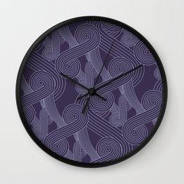 Quarian Swirls Wall Clock