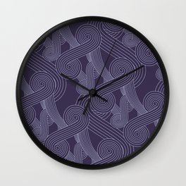 Quarian Swirls Wall Clock