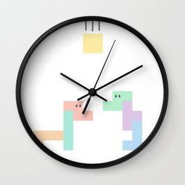 Tetris Dinosaur Disaster Wall Clock