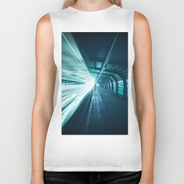 Railroad Tunnel Blue Biker Tank